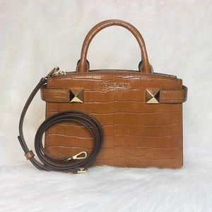 Michael Kors Karla Small Satchel Embossed Leather